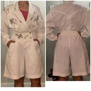 IIF 80's rare vintage beaded jumpsuit/romper sz 12